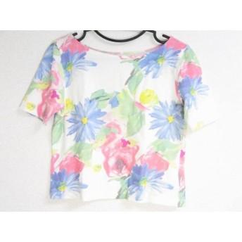 【中古】 サマンサベガ Samantha Vega 半袖Tシャツ サイズM レディース 白 マルチ REDYAZEL/花柄