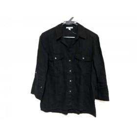 【中古】 ジェームスパース JAMES PERSE 七分袖シャツブラウス サイズ1 S レディース 黒
