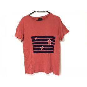【中古】 アーペーセー A.P.C. 半袖Tシャツ サイズXS レディース レッド ダークネイビー スター