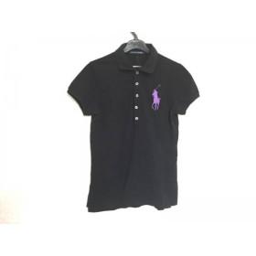 【中古】 ラルフローレン 半袖ポロシャツ サイズL レディース ビッグポニー 黒 THE SKINNY POLO