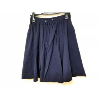 【中古】 ジムフレックス Gymphlex スカート サイズ12 L レディース ネイビー
