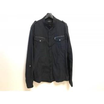 【中古】 エポカ EPOCA 長袖シャツ サイズ50 メンズ 美品 黒 UOMO