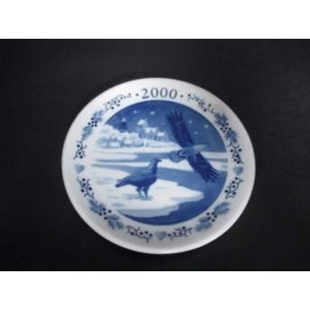 【中古】 ロイヤルコペンハーゲン プレート 新品同様 白 ブルー ミニプレート/2000 陶器