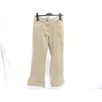 【中古】 レストローズ L'EST ROSE パンツ サイズ1 S レディース ベージュ