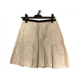 【中古】 ドゥーズィエム DEUXIEME CLASSE ミニスカート サイズ36 S レディース アイボリー 黒