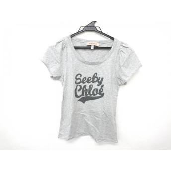 【中古】 シーバイクロエ 半袖Tシャツ レディース 美品 グレー ダークグレー 切りっぱなし加工