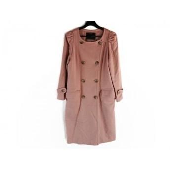 【中古】 フローレント FLORENT コート レディース 美品 ピンク 冬物