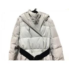 【中古】 アドーア ADORE ダウンコート サイズ38 M レディース ライトグレー 冬物