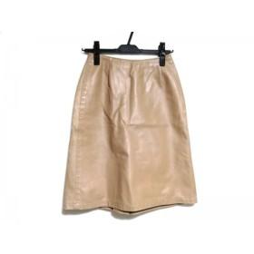 【中古】 ソニアリキエル SONIARYKIEL スカート サイズ34 S レディース ライトブラウン レザー