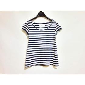 【中古】 ザ ショップ ティーケー THE SHOP TK (MIXPICE) 半袖Tシャツ レディース 白 ネイビー