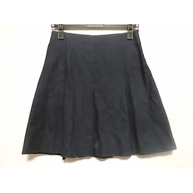 【中古】 ミュラーオブヨシオクボ ミニスカート サイズ36 S レディース ネイビー デニム/プリーツ