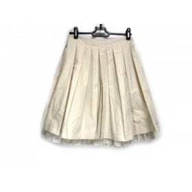 【中古】 エムズグレイシー M'S GRACY スカート サイズ36 S レディース 美品 ベージュ