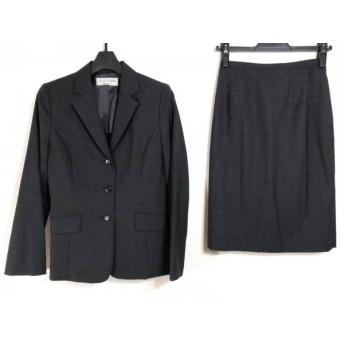 【中古】 ヴァンドゥ オクトーブル 22OCTOBRE スカートスーツ サイズ38 M レディース ダークグレー