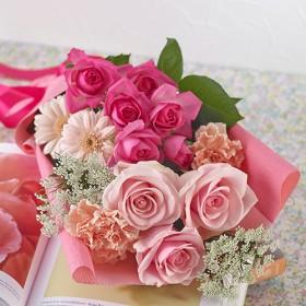 【日比谷花壇】メロディーボックス花束「ローズハッピーバースデー」