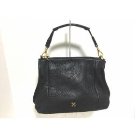 【中古】 サザビー SAZABY ハンドバッグ 美品 黒 ストラップ付け替え可 レザー