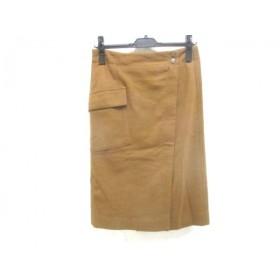【中古】 マカフィ MACPHEE スカート サイズ34 S レディース ブラウン