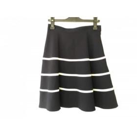 【中古】 ジャスグリッティー JUSGLITTY スカート サイズ2 M レディース ダークネイビー 白