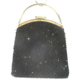 17c5898db9bb 【中古】 グッチ GUCCI ハンドバッグ - - 黒 シルバー ビーズ 化学繊維 スパンコール 金属素材