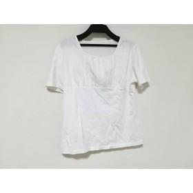 【中古】 スキャパ Scapa 半袖カットソー サイズ38 L レディース 白 刺繍