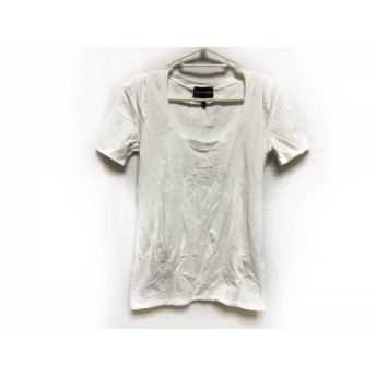 【中古】 エンポリオアルマーニ EMPORIOARMANI 半袖Tシャツ レディース 白 フェイクパール
