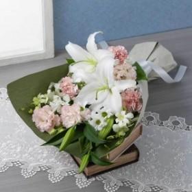 【故人を偲ぶ、お悔みの花】花束「懐旧の情(桜色重ね)」