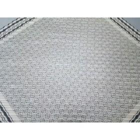 【中古】 ロエベ LOEWE スカーフ 美品 ベージュ 黒 プリーツ