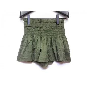 【中古】 イザベルマランエトワール ショートパンツ サイズ0 XS レディース 美品 ダークグリーン