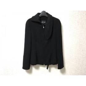 【中古】 ジョルジオアルマーニ GIORGIOARMANI ジャケット レディース 黒 ジップアップ