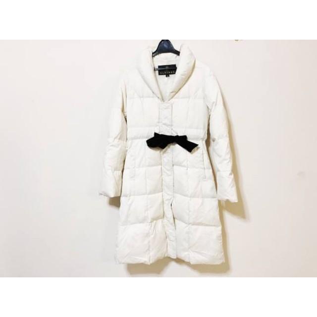 【中古】 クレイサス CLATHAS ダウンコート サイズ38 M レディース 白 冬物