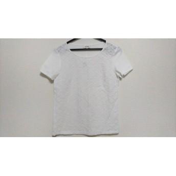【中古】 スキャパ Scapa 半袖カットソー サイズ38 L レディース 美品 白 透け感あり