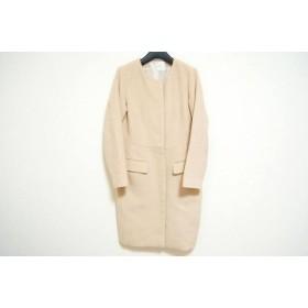【中古】 アナカ Unaca コート サイズ38 M レディース ベージュ 冬物