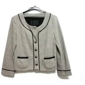 【中古】 アンタイトル UNTITLED ジャケット サイズ2 M レディース アイボリー 黒 ショート丈