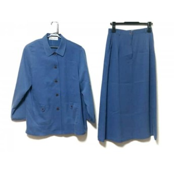 【中古】 ホワイト イタリヤード WHITE ITARIYARD スカートスーツ レディース ブルー 3点セット