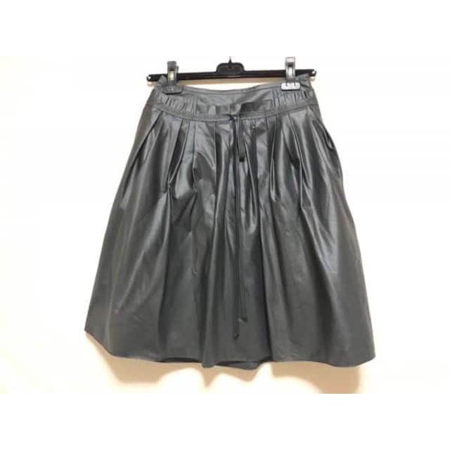 【中古】 バーバリーブルーレーベル Burberry Blue Label スカート サイズ38 M レディース 黒