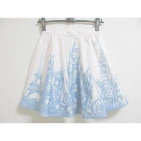 【中古】 チェスティ Chesty スカート サイズ0 XS レディース 白 ライトブルー