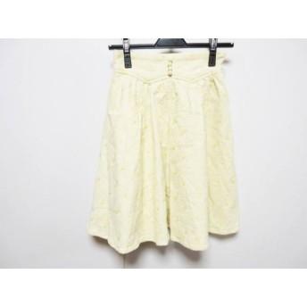 【中古】 リリーブラウン Lily Brown スカート サイズ0 XS レディース アイボリー イエロー 刺繍
