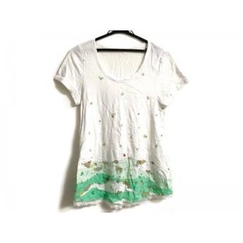 【中古】 フランシュリッペ franchelippee チュニック サイズM レディース 白 グリーン マルチ 刺繍