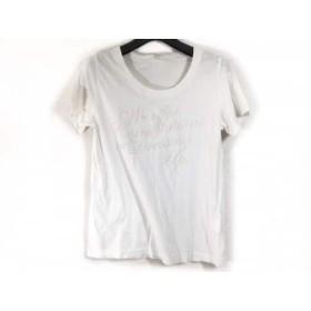 【中古】 イエナ IENA 半袖Tシャツ サイズF レディース 白 ベージュ ラメ