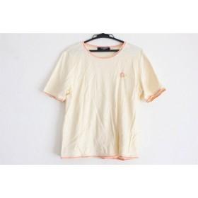 【中古】 レオナール LEONARD 半袖Tシャツ レディース アイボリー フラワー