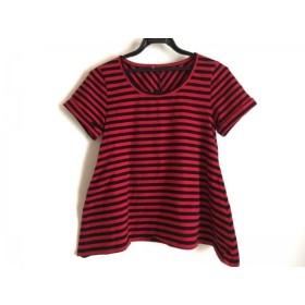 【中古】 バナーバレット BannerBarrett 半袖Tシャツ レディース 黒 レッド