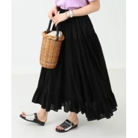 Ray BEAMS / ティアード マキシスカート レディース マキシ・ロング丈スカート BLACK ONE SIZE
