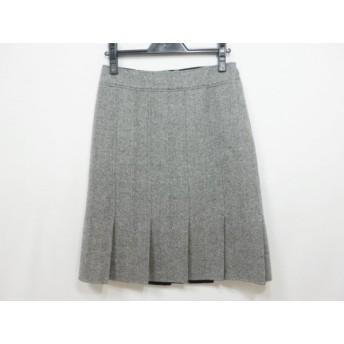 【中古】 バーバリーロンドン Burberry LONDON スカート サイズ36 M レディース 白 黒