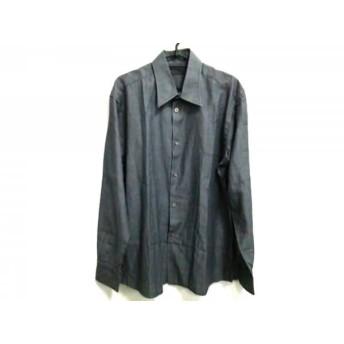 【中古】 ルイヴィトン LOUIS VUITTON 長袖シャツ サイズ41/16 メンズ ダークグレー