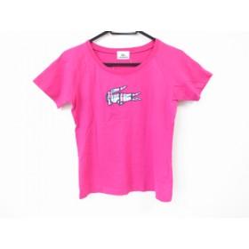【中古】 ラコステ Lacoste 半袖Tシャツ サイズ40 M レディース ピンク マルチ