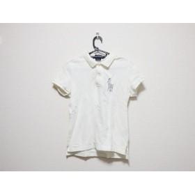 【中古】 ラルフローレン 半袖ポロシャツ サイズS レディース ビッグポニー アイボリー シルバー