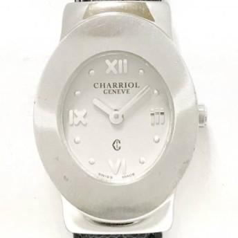 【中古】シャリオール CHARRIOL 腕時計 アジュール AZURO レディース 革ベルト シルバー