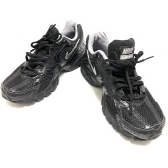 【中古】 ナイキ スニーカー 24.5 レディース AIR SKYRAIDER 2 386513-002 黒 グレー 化学繊維 合皮