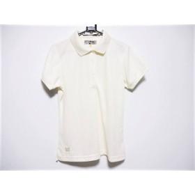 【中古】 ラウドマウス LOUDMOUTH 半袖ポロシャツ サイズM レディース アイボリー 刺繍
