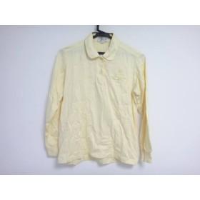 【中古】 バーバリーズ Burberry's 長袖ポロシャツ サイズM レディース イエロー