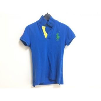 【中古】 ラルフローレン 半袖ポロシャツ サイズXS レディース ビッグポニー ブルー グリーン オレンジ